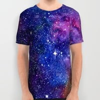 Galaxy All Over Print Shirt by Miss L In Art
