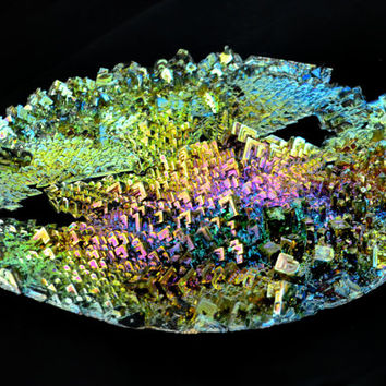 25% OFF, Gilded Garden, Bismuth Metal Crystal, Iridescent, Fractal, Unique Art Sculpture