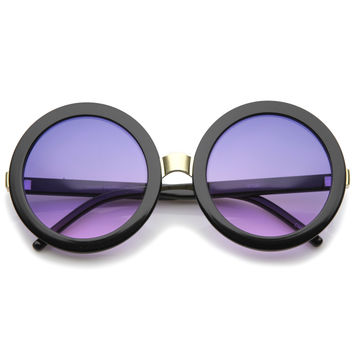 Women's 1960's Retro Oversize Round Sunglasses A259