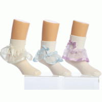 Cute socks with satin trim