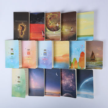 1pcs Mini Cute Kawaii Journal Diary Notebook With Lined Paper Vintage Retro Notepad Book For Kids Korean Stationery