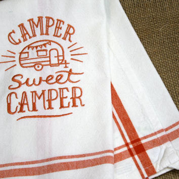 Kitchen Dish Towel Camper Sweet Camper