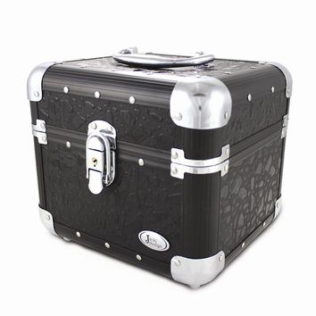 Black Sleek & Shiny Train Case - Perfect Gift