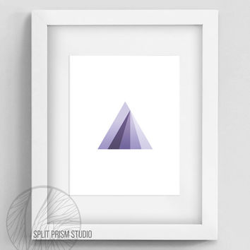 Original Art Print, Instant Download, Print, Art, Digital, Wall Art, Geometric Art, Graphic Print, Triangle, Blue Triangle Print, Prism