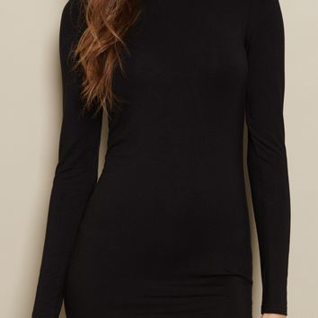 Long Sleeve Bodycon Shirt Dress