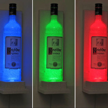 Ketel One Vodka Wall Mount Color Changing LED Sconce Bottle Lamp Remote Controlled Bar Light Bodacious Bottles-