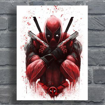Deadpool Poster Abstract Movie Canvas Artwork Digital Prints Home Decor Wall Painting No Frame