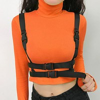 Autumn And Winter Fashion New Solid Color Long Sleeve Top Shirt Orange