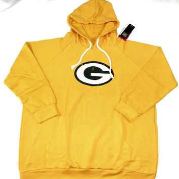 Green Bay Packers Majestic Pullover Hoodie Sweatshirt Women's Plus Sizes