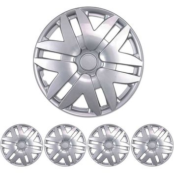 "BDK Toyota Sienna Style Hubcaps Wheel Cover, 16"" Silver Replica Cover, 4 Pieces"
