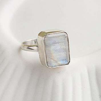 Rainbow Moonstone Galore Ring