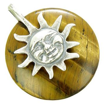 Positive Energy Happy Sun Protection Amulet Tiger Eye Pendant