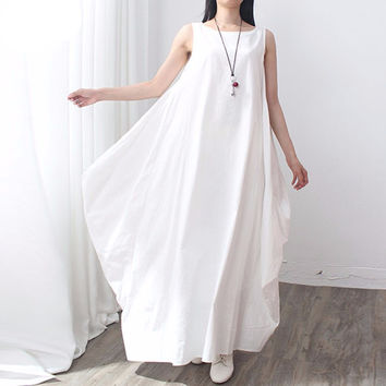O Neck White Dress