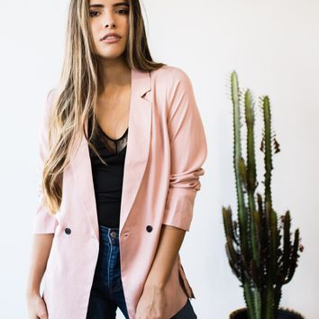 Double Breasted Lapel Blazer