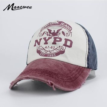 b09600de3 Trendy Winter Jacket Recreation Washed Retro Baseball Cap NYPD F