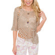 Alabama Crochet Top - Taupe