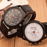 Mnes Womens Casual Sports Watches Silicone Strap Watch + Beautiful Gift Box - 372