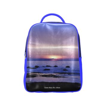 Blue And Purple Sunset Back Pack Popular Backpack