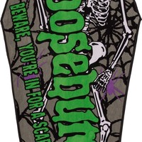 Goosebumps Logo Coffin | BEACH TOWEL