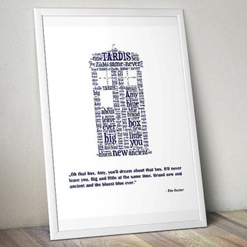 TARDIS, Doctor Who - Printable Poster - Digital Art - Download and Print