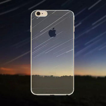 Meteor Shower Tourism Scenery iPhone 5 5S iPhone 6 6S Plus creative case + Gift Box-125