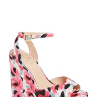 kate spade new york 'dellie' print wedge sandal (Women) | Nordstrom