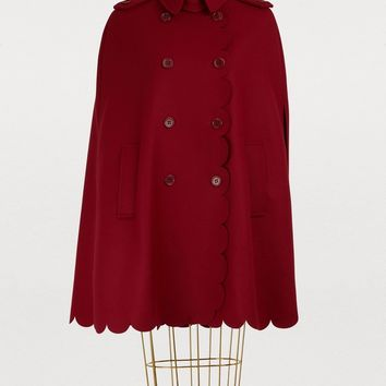 RED VALENTINO - Cape with scalloped details