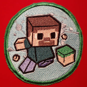 Minecraft Steve Embroidered Patch