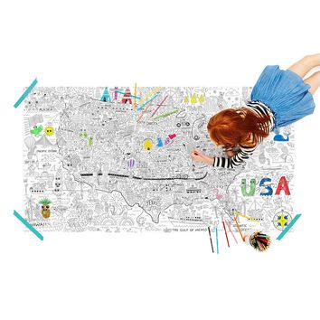 USA Jumbo Coloring Poster | Kids USA Coloring Poster