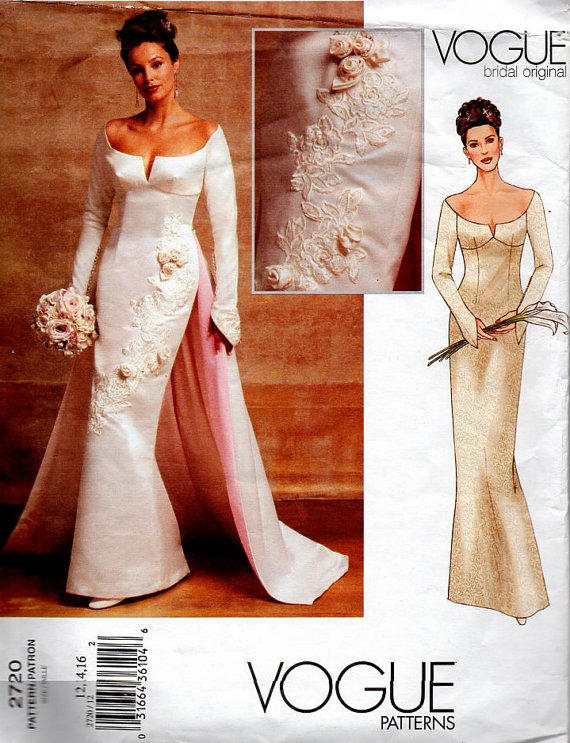 Vogue 2720 Sewing Pattern Wedding Dress From Adele Bee Ann