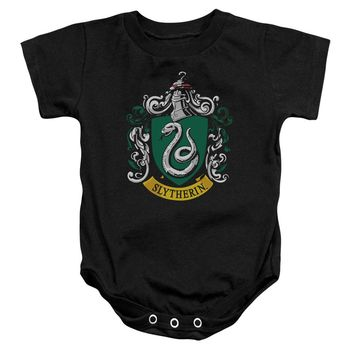 Harry Potter - Slytherin Crest Infant Snapsuit Officially Licensed Baby Clothing