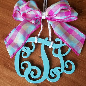 Twisted Vine 3 letter Car Charm / Door Hanger
