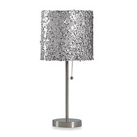 Table Lamp with Silver Sequin Shade