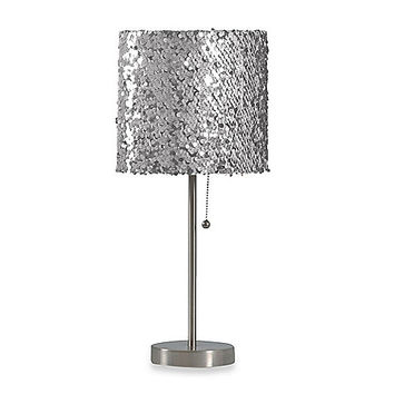 Shop silver lamp shades for table lamps on wanelo table lamp with silver sequin shade mozeypictures Gallery