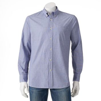 SONOMA life + style Solid Poplin Button-Down Shirt