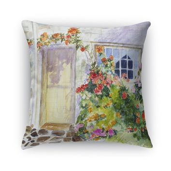 FLOWER ENTRY Accent Pillow By Jayne Conte