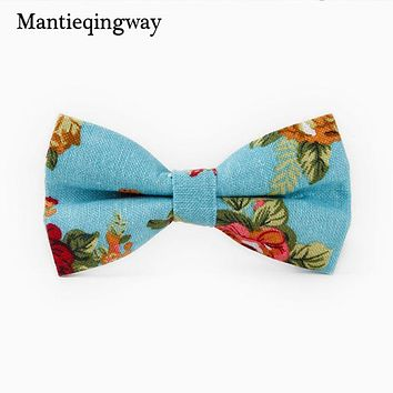 Men Floral Bow Tie Bowknot Wedding Groom Bow Tie Cravat Slim Collar Cravat Fashion Men's Cotton Printed Bow Ties