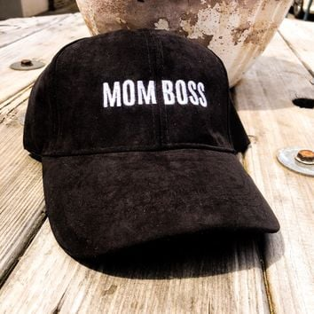 Mom Boss Ultra Suede Trucker Hat