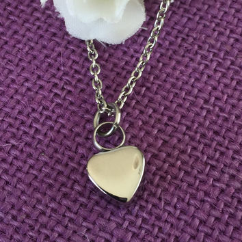 Urn Memorial cremation Jewelry Necklace  - Remembrance Necklace - Sympathy Gift - Memorial Necklace - Urn - Cremation - RiP