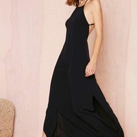Flame Game Dress - Black