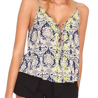 Stunner's Cami Crop Top - Blue Print