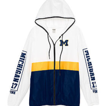 University of Michigan Anorak Full-Zip - PINK - Victoria's Secret