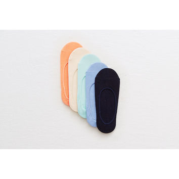 Aerie No-Show Socks 5-Pack, Multi