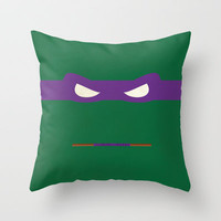 Purple Ninja Turtles Donatello Throw Pillow by 1986