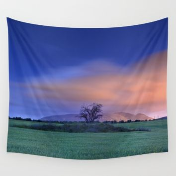 """Blue night"" Wall Tapestry by Guido Montañés"