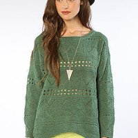 The Claire Sweater in Green