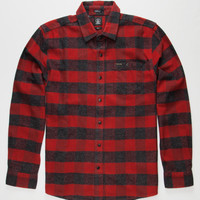 Volcom Echo Mens Flannel Shirt Red/Black  In Sizes