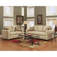 Chelsea Home Talbot 2 Piece Living Room Set in Vivid Beige
