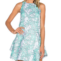 ELLIATT Away Dress in Emerald Floral