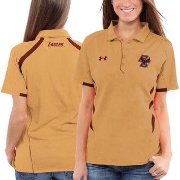 Under Armour Boston College Eagles Ladies Undeniable Performance Polo - Gold/Maroon